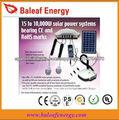 el sistema de iluminación solar portable
