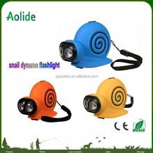 kid flashlight cute snail light New Style Special Hand Crank Led Torch Animal Dynamo Flashlight