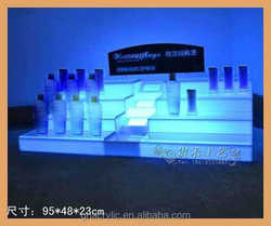 cosmetic display organizer with LED light, cosmetic display stand for revlon