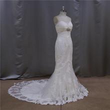 New wedding kebaya sexy opulent brush train lace wedding dress with lace top 2012