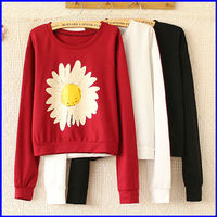 Good quality ladies china t shirt factory wholesale fashion floral printed t shirt with long sleeve
