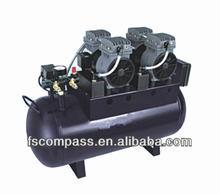 55L compresor de aire sin aceite, nueva silenciosos compresor de aire sin aceite para 3-4 unidad dental