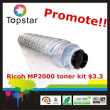 hot toner cartridge Ricoh MP2000 toner kit $3.3 for ricoh copier MP2000