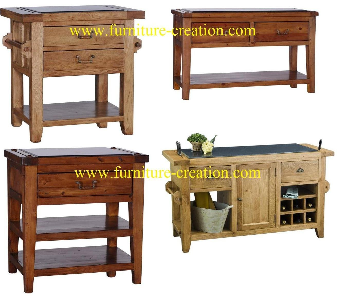 Cocina islas muebles de madera maciza mobiliario de cocina - Muebles de cocina madera maciza ...