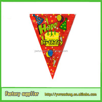 Happy birthday hanging banner , party flag