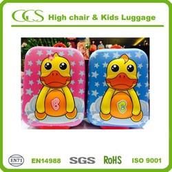 3D cartoon EVA wheeled kids pull along luggages