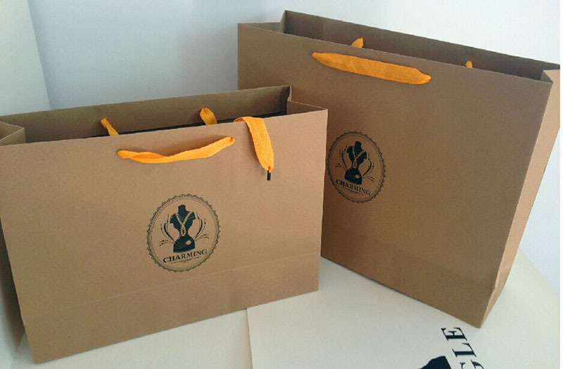 Supplier Of Customized Paper Bag Design Recycle Kraft Paper Gift Bag Shopping Garments Packing