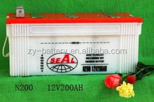 High quality 12V Battery 200AH Dry charged SEAL brand car battery