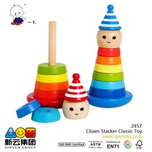 Clown Stacker Classic Toy/ Rainbow tower 2015 wooden toys