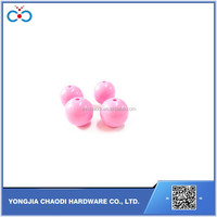 18mm Acrylic bead Solid Bubblegum Beads pink Round bead with hole