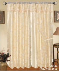 china made JY-54 10 years top-rated golden seller newest 100% polyester printed finished curtain gauze