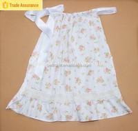 2015 Lasted Design Kids Girl Floral Print Dress Halter Ruffle Casual Lace Sleep Dress