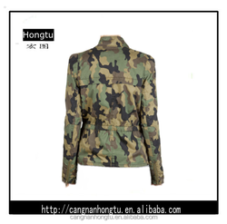 Customized camo casual jacket for women