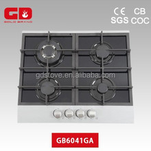 Fashion design for the gas ranges with glass aluminum
