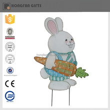 2015 popular style metal easter bunny stake for garden ornament