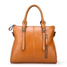2015 Europe style ladies elegance handbags 100% genuine leather women bags