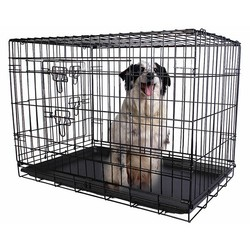 factory wholesale Super economical dog cage/foldable stainless steel dog cage