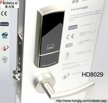 Security wireless controlled by computer hotel card lock