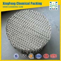 Metal Perforated Plate Corrugated Tower Packing: For Ethyl Benzene/ Styrene Extraction Industry