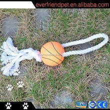 2014 hot sale orange basketball cotton rope pet product dog toy