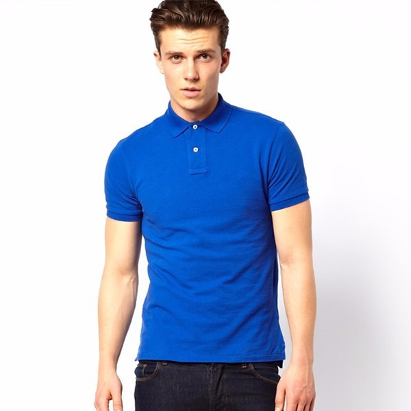 P43 royal blue plain cheap uniform polo shirts for men for Where to buy polo shirts cheap