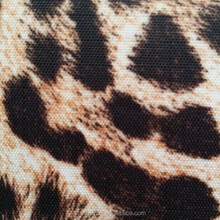 210D leopard print digital printing PVC polyester oxford fabric for bags