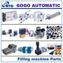 pneumatic valve,filter regulator FRL,valva fittings, air hose and cylinder parts for glass filling machine