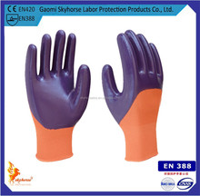 Nitrile coated working glove construction glove made in China