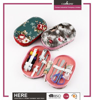 2 in 1 portable complete nail care sewing kit