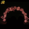 Giant decorative christmas led wedding arch inflatable flower arch for sale