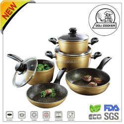 8 pcs Aluminium good cookware set with removable handle with good quality