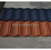 modern roof design bond stone coated red color metal roof tile slate stone tile