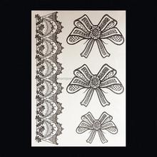 Oemหมึกสักขายส่งดอกไม้ธนู- ปมแขนรอยสักแขนรอยสักแขนสำหรับผู้หญิงw-1060