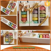 5 pack or 10 pack macaron packaging box with nice bow