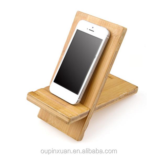 3 Slot Charging Station Docking Station Bamboo Wood Phone