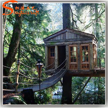 outdoor decor artificial wooden tree houses for sale for kids