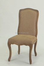 French /European style Bend Line design Fabric Wooden Side chair/Dining /Restaurant chair(Ch-838)