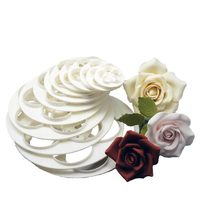 1Set/6PCS Fondant Cake Sugarcraft Rose Flower Decorating Cookie Mold Gum Paste Cutter Tool