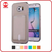 Factory Supply One Body Transparent Ultra Thin TPU Case for Samsung Galaxy Note 5 Edge With Card Slot