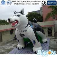 Outdoor Advertising Equipment Dog Inflatable Shape Oxford Material