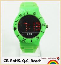 2015 plastic strap new watches led custom logo