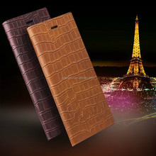 Factory price crocodile pattern ultra thin cover case for iphone 6 plus with wake-up function