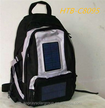 2w outdoor solar rechargeable bag with solar charger