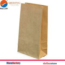 Flat Bottom Brown Kraft Paper Bags No Handles