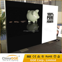 Flex Banner LED Backlit Advertising Outdoor Free Standing Aluminum Frame Fabric Light Box with Printing Textile Fabric