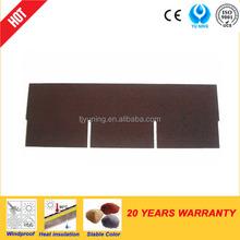 3-tab red asphalt shingles