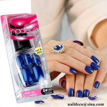Top Quality be packed in nail polish bottle press on fake nails