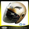 DOT FUSHI Matt gold men's open face helmet for motorcycle