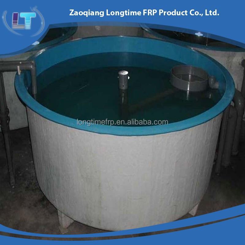 Fish farming fiberglass fish tank round fish farming tank for Aquaculture fish tanks