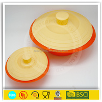 Convenient microwave silicone steamer/ silicone collapsible bowl with lid for travel